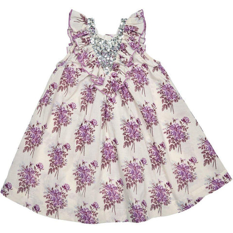 Pink Chicken Marly Dress 2y lavendar floral - 19sspc289b