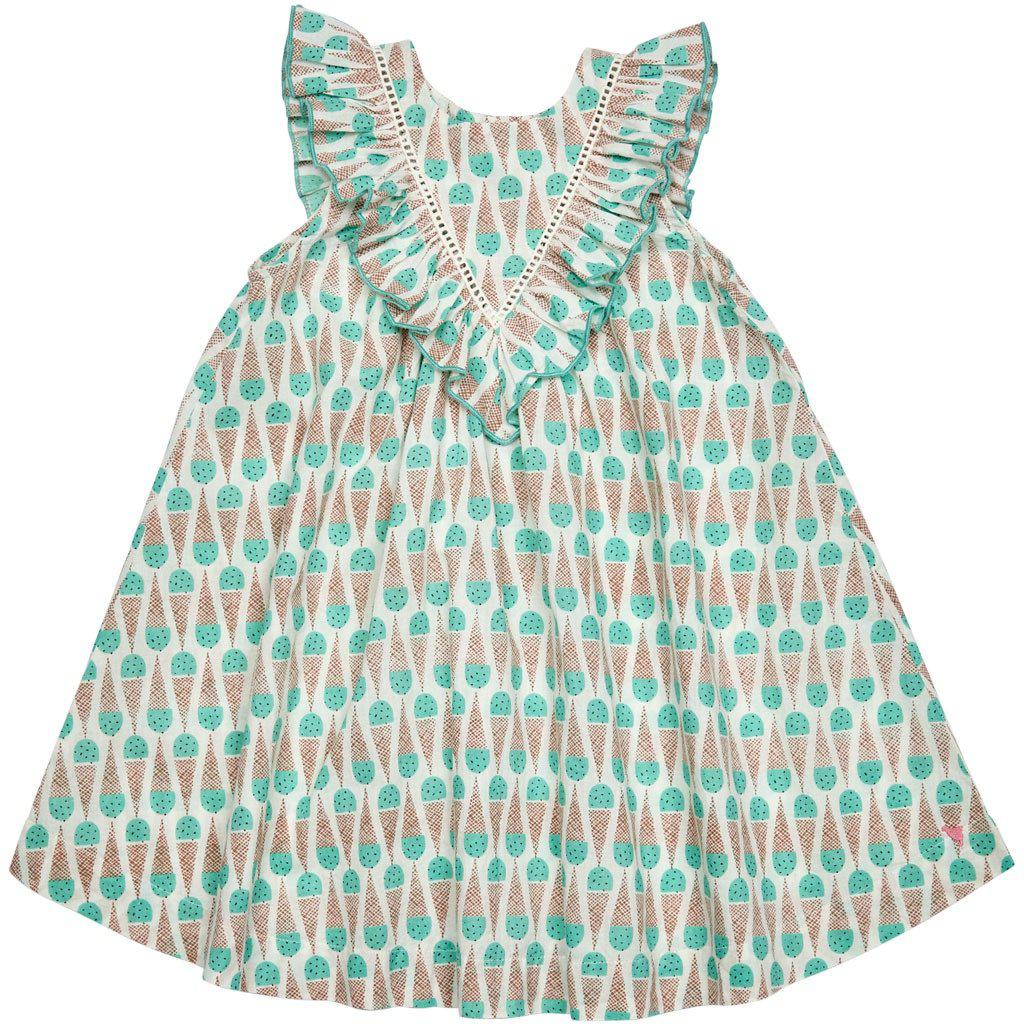 Pink Chicken Marly Dress 2y mint chocolate chip - 19sspc289c