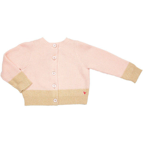 Pink Chicken Baby Maude Colorblock Sweater 3/6m strawberry cream - 19spcb863a