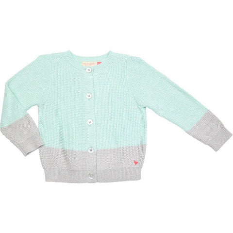 Pink Chicken Maude Colorblock Sweater 2y wan blue - 19spc616b
