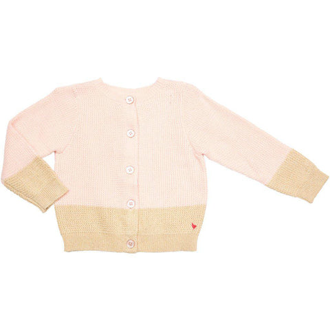 Pink Chicken Maude Colorblock Sweater 2y strawberry cream - 19spc616a