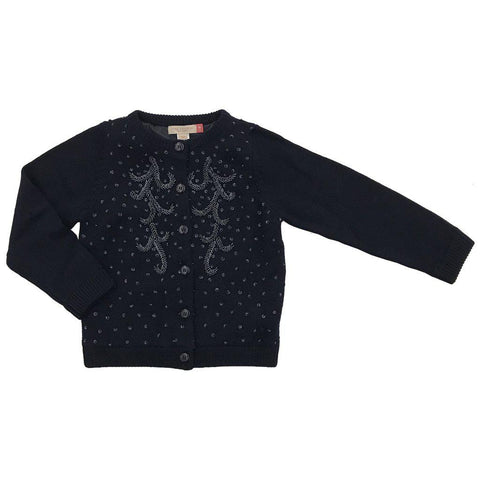 Pink Chicken Maude Beaded Sweater 2y navy - 18ffpc616d