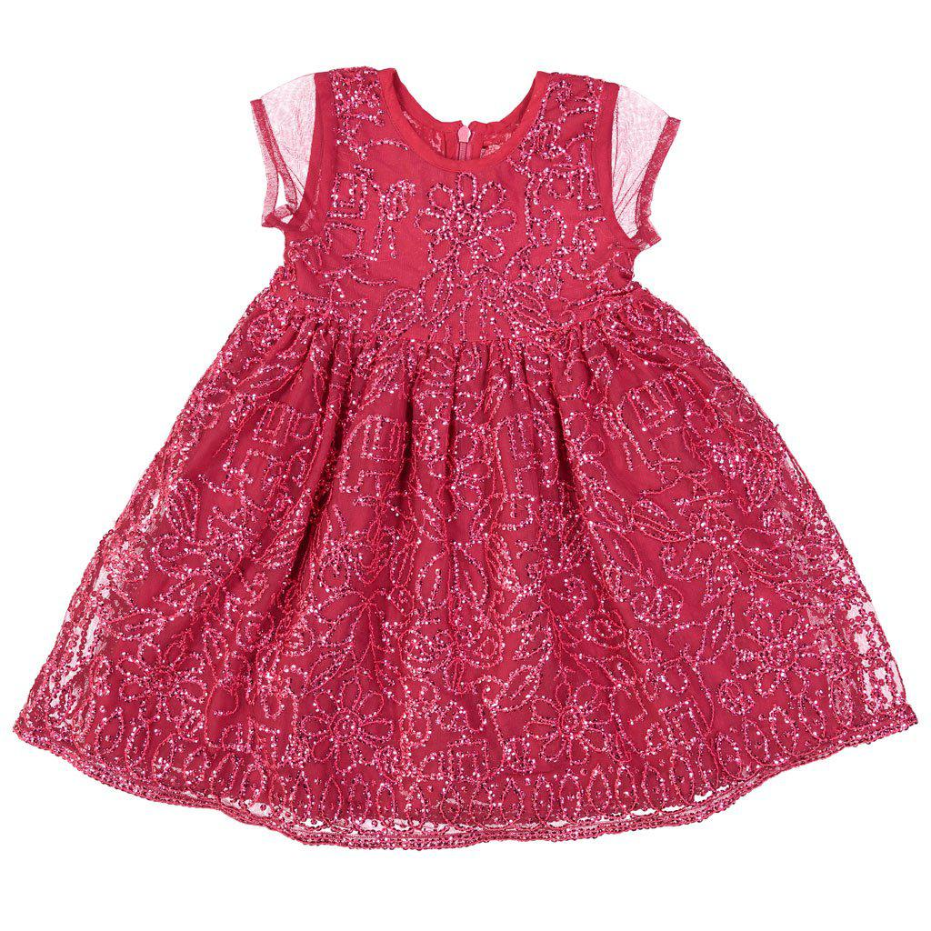 Pink Chicken Maya Dress 2y 17hpc410a - cerise pink sequins