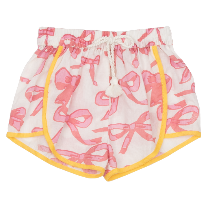 Pink Chicken Millie Short 2y mauveglow bows