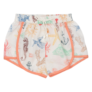 Pink Chicken Millie Short 2y multi sea creatures