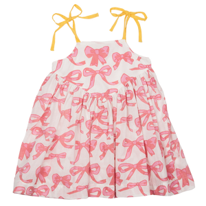Pink Chicken Monroe Dress 2y mauveglow bows