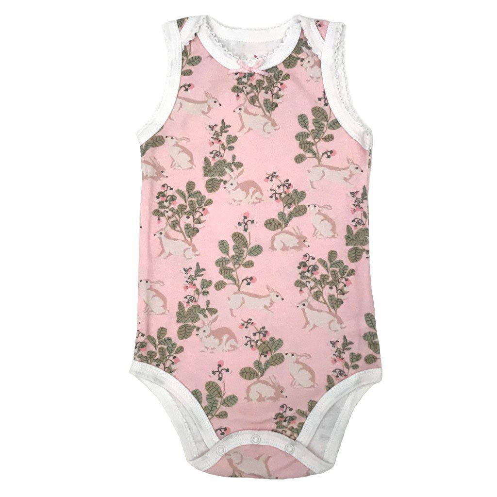 Pink Chicken Bella Bodysuit 0/3m strawberry cream rabbits - 18spcn927e