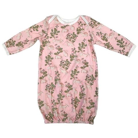 Pink Chicken Ginny Gown 0/3m strawberry cream rabbits - 18spcn923d