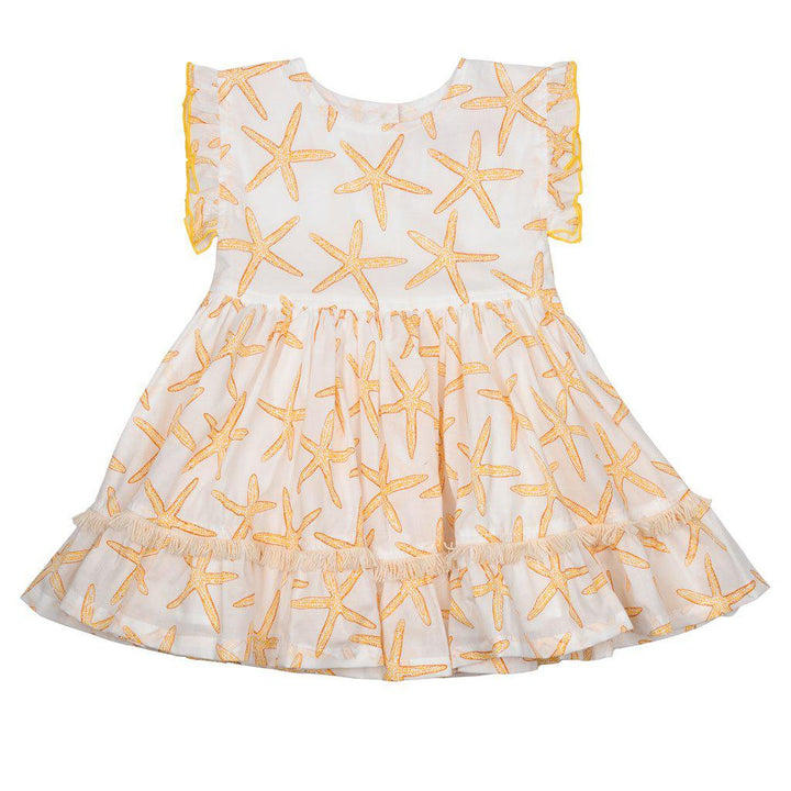Pink Chicken Niley Dress 2y inca gold starfish - 19rpc365a