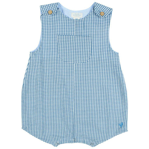 Pink Chicken Noah Onesie 3/6m china blue gingham - 19sbrb221a