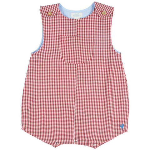 Pink Chicken Noah Onesie 3/6m red gingham - 19sbrb221b