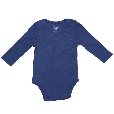 Pink Chicken Oliver Thermal Bodysuit 3/6m navy - 18fbrb210d