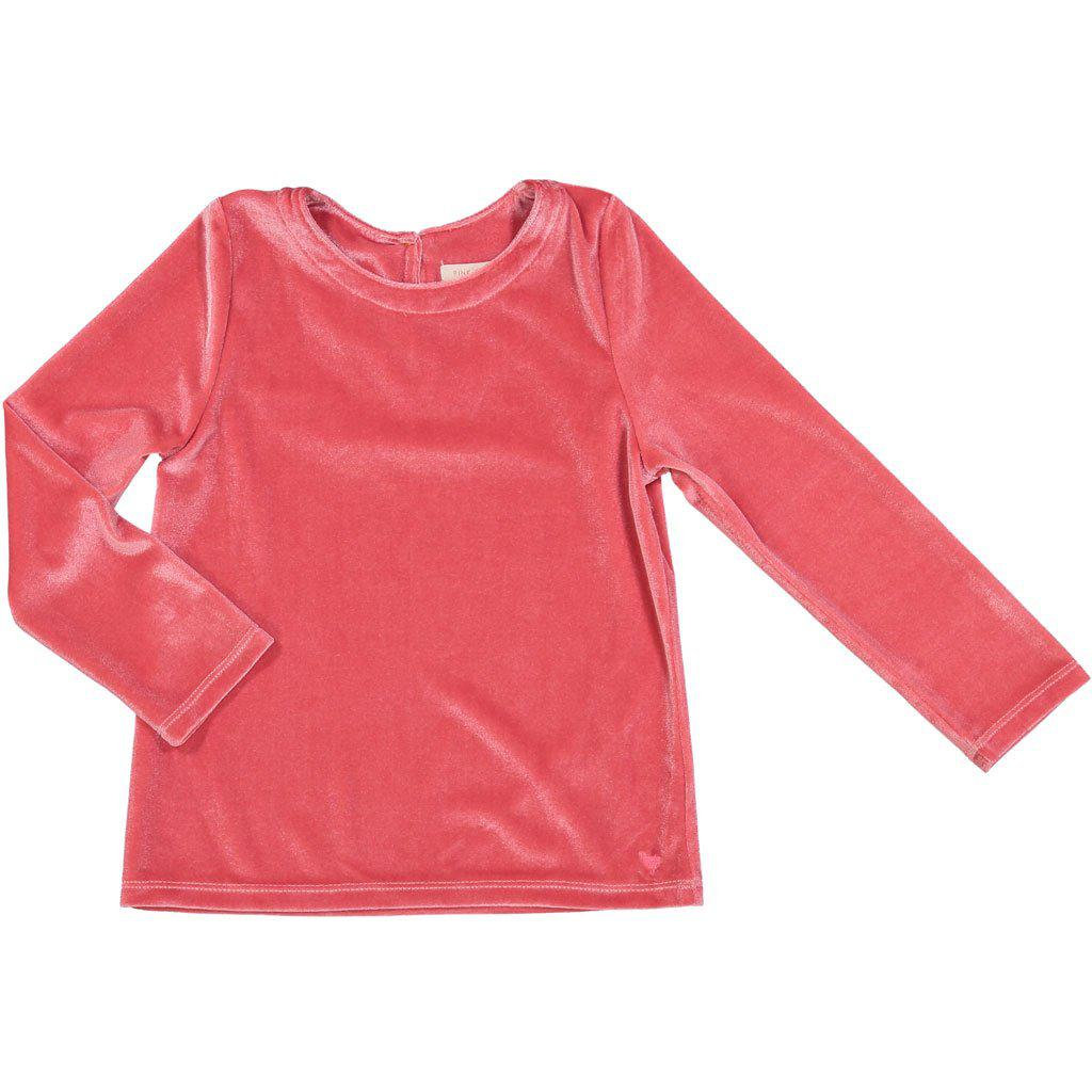 Pink Chicken Olivia Top 2y rapture rose velour - 18ffpc649c
