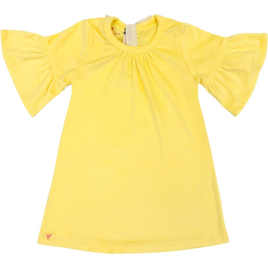 View larger version of Pink Chicken Ophelia Dress 2y bright yellow velour - 19ffpc191d
