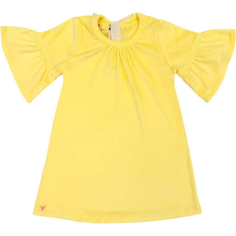 Pink Chicken Ophelia Dress 2y yellow velour - 19ffpc191d