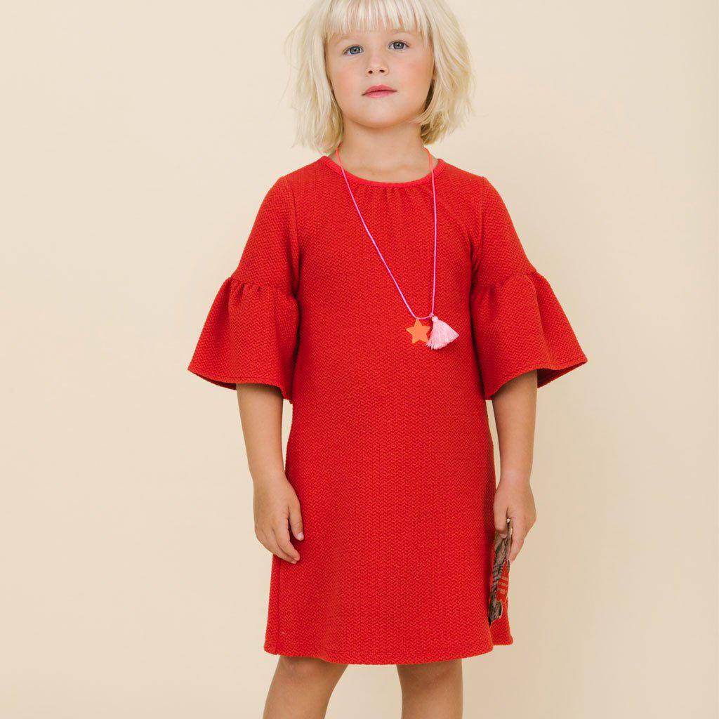 Pink Chicken Ophelia Dress 2y red - 19espc191a