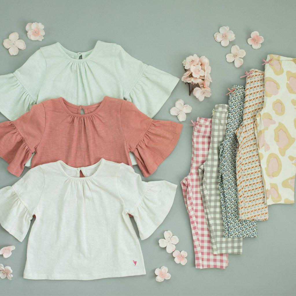 Pink Chicken Ophelia Top 2y milky green - 19spc288c