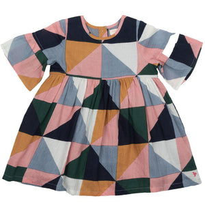 Pink Chicken Ophelia Dress 2y multi triangle geo - 19fpc191a