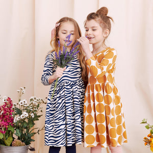 Pink Chicken Organic Steph Dress 2Y dress blues zebra