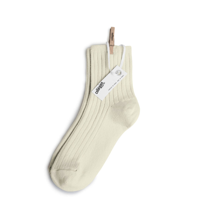 Pink Chicken Ribbed Ankle Socks - Ivory 18/20