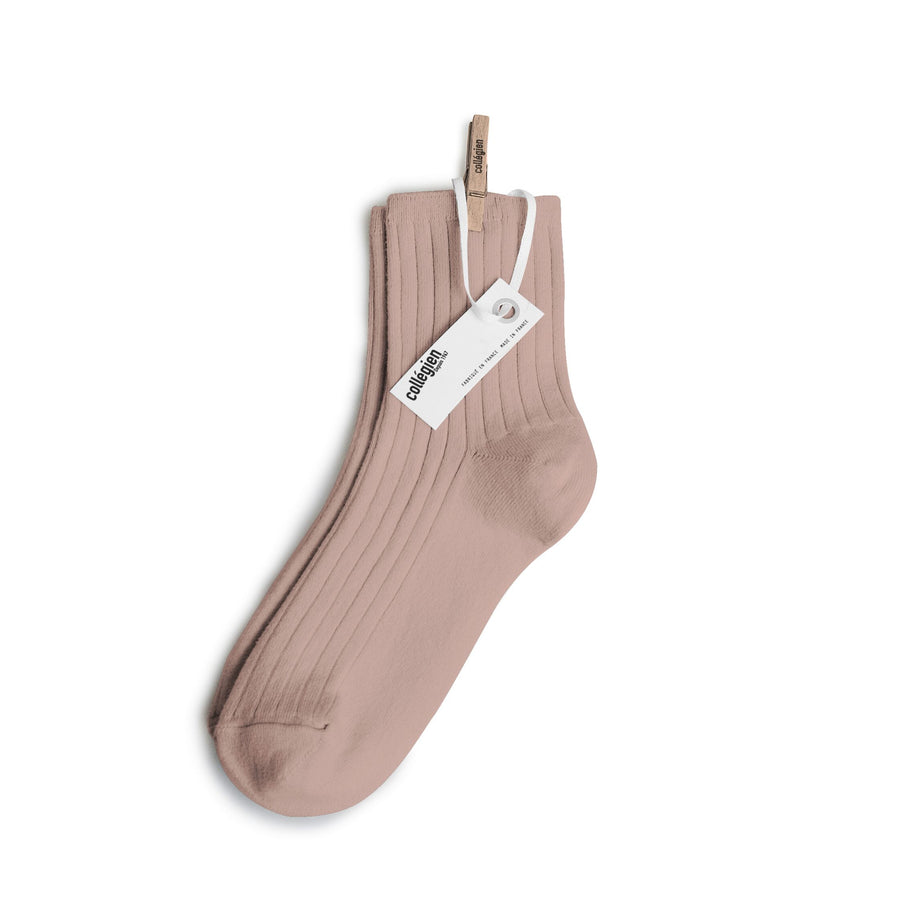 Pink Chicken Ribbed Ankle Socks - Rose 18/20
