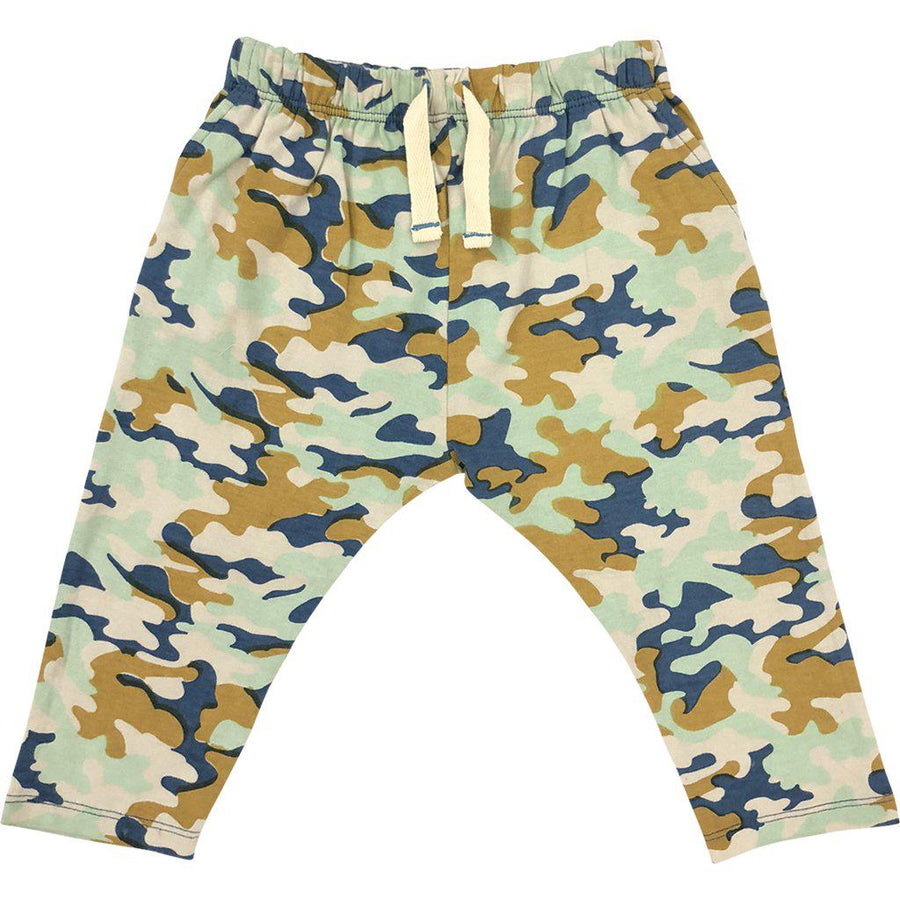 Pink Chicken James Pant 3/6m silver cloud multi camo