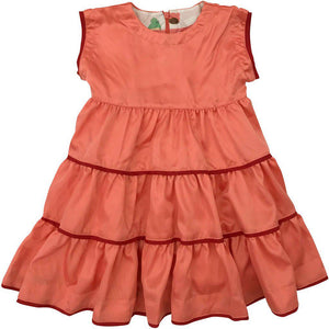 Pink Chicken Peachy Dress 2y coral satin - 19fpc334a