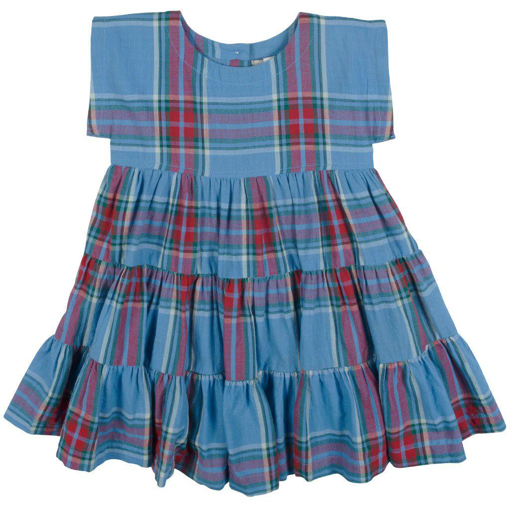 Pink Chicken Peachy Dress 2y riviera tartan - 19fpc334b