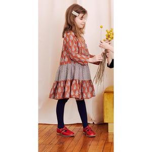 Pink Chicken Penelope Dress 2Y gingerbread vintage floral