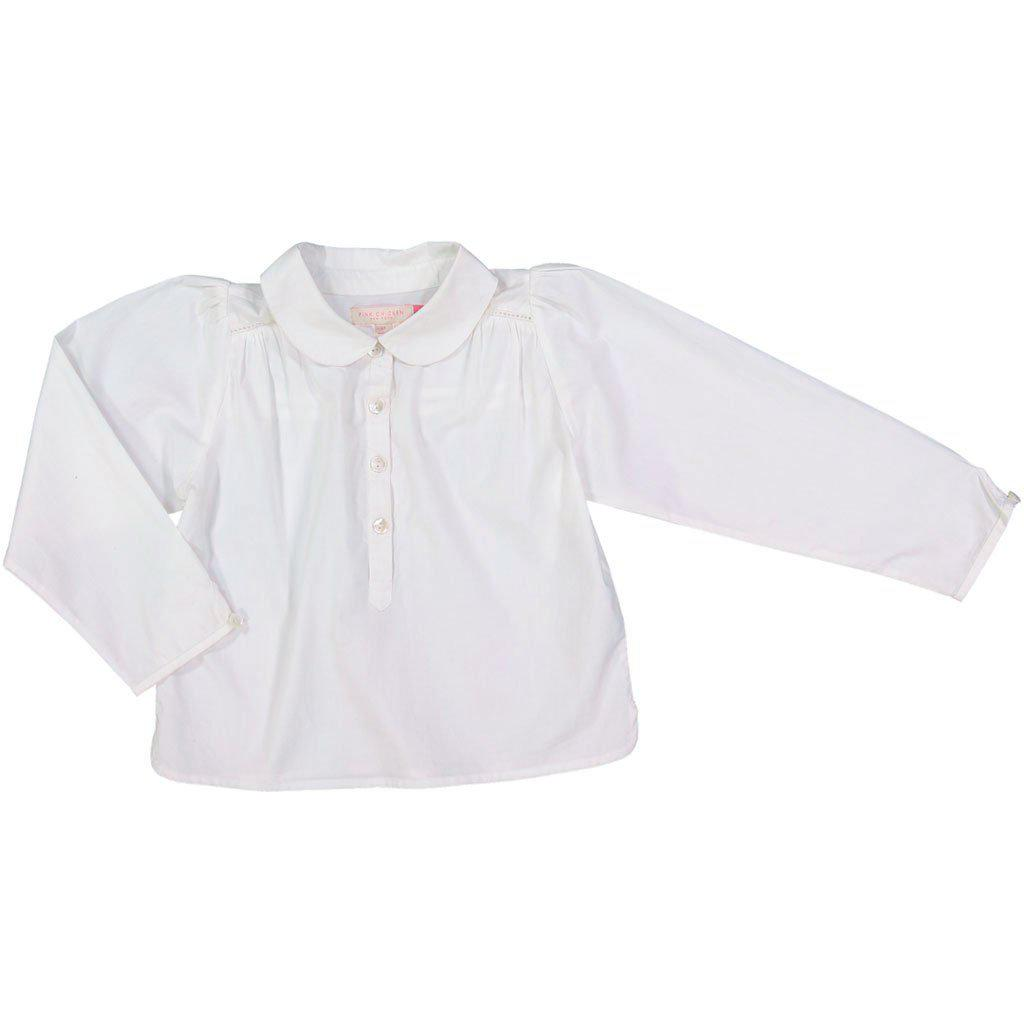 Pink Chicken Petal Collar Top 2y white - 19fpc267a