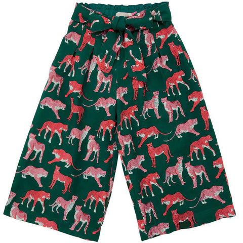 Pink Chicken Phoebe Pant 2y 19ffpc338a - evergreen cheetah