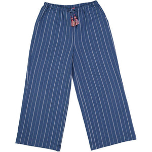 Pink Chicken Pixie Pant 2y indigo pinstripe chambray - 18fpc227a