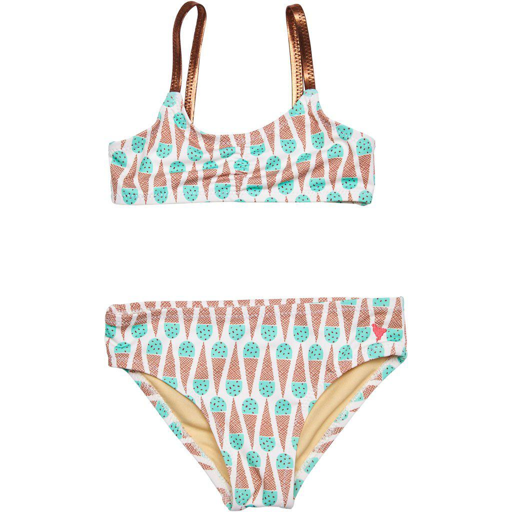 Pink Chicken Poppy Bikini 2y mint chocolate chip - 19spcs104b