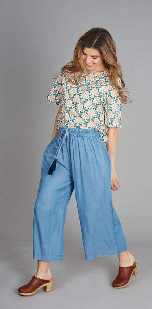 Pink Chicken Poppy Pant XS chambray - 19fpcw207a