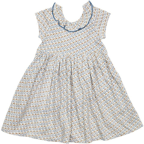 Pink Chicken Princess Diana Dress 2y vapor blue diagonal flower - 19spc263b