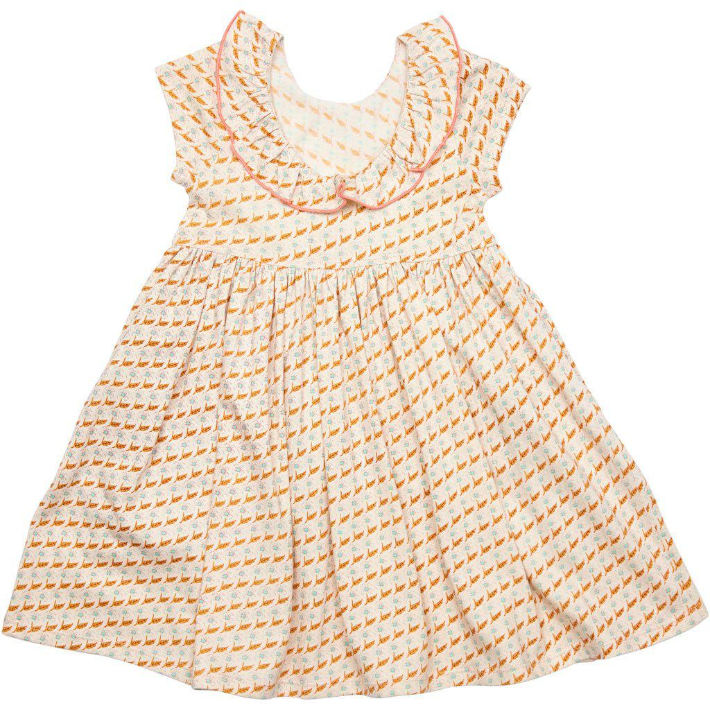 Pink Chicken Princess Diana Dress 2y cloud pink diagonal flower - 19spc263a