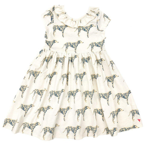 Pink Chicken Princess Diana Dress 2y antique white dalmatian - 19spc263c