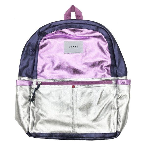 State Purple Metallic Backpack