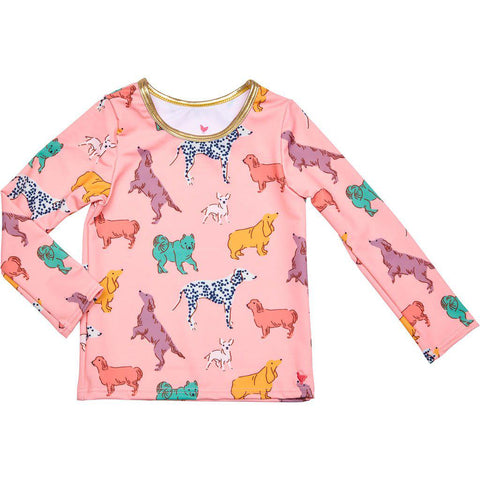 Pink Chicken Rash Guard 2y crystal rose dogs - 19spcs105d