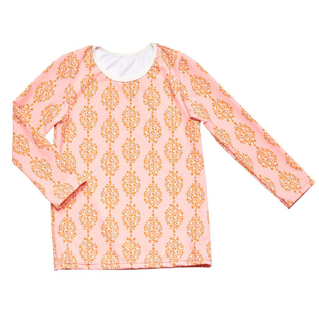 Pink Chicken Rash Guard 2y pink icing medallion - 18spcs105e
