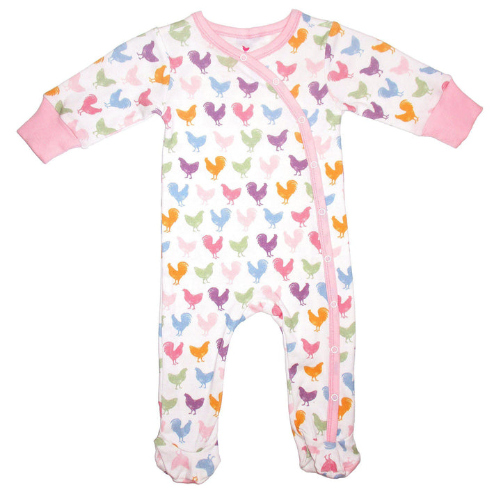 Pink Chicken Ripley Romper 0/3m multi chicken & rooster - 19spcl5a