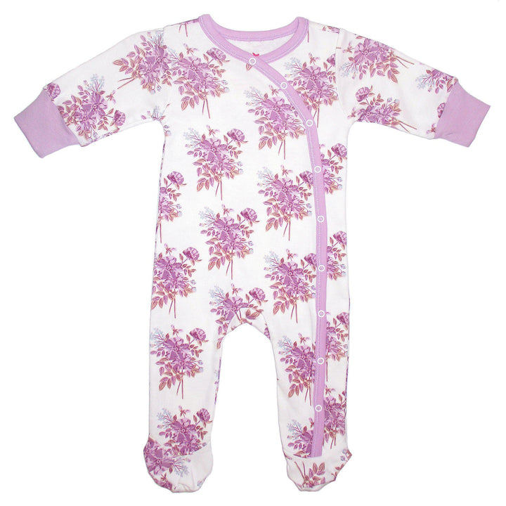 Pink Chicken Ripley Romper 0/3m lavender floral - 19spcl5c