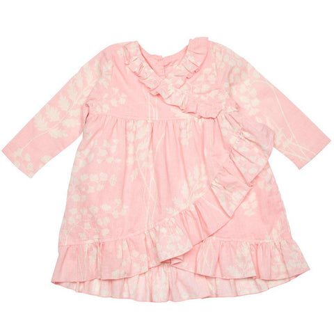 Pink Chicken Robin Dress 3/6m crystal rose oversized fern - 19espcb936b
