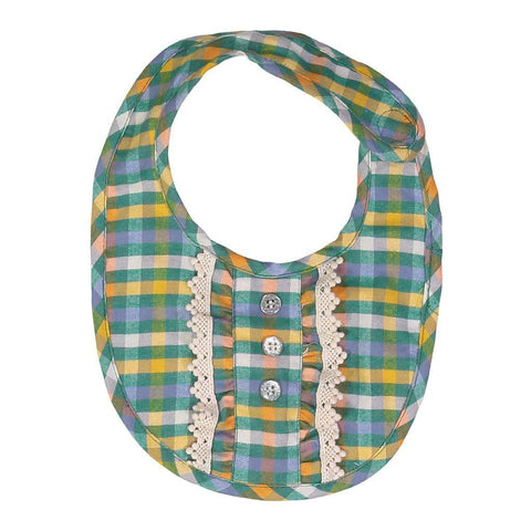 Pink Chicken Ruffle Bib ONE SIZE foliage plaid - 18fpcb858a
