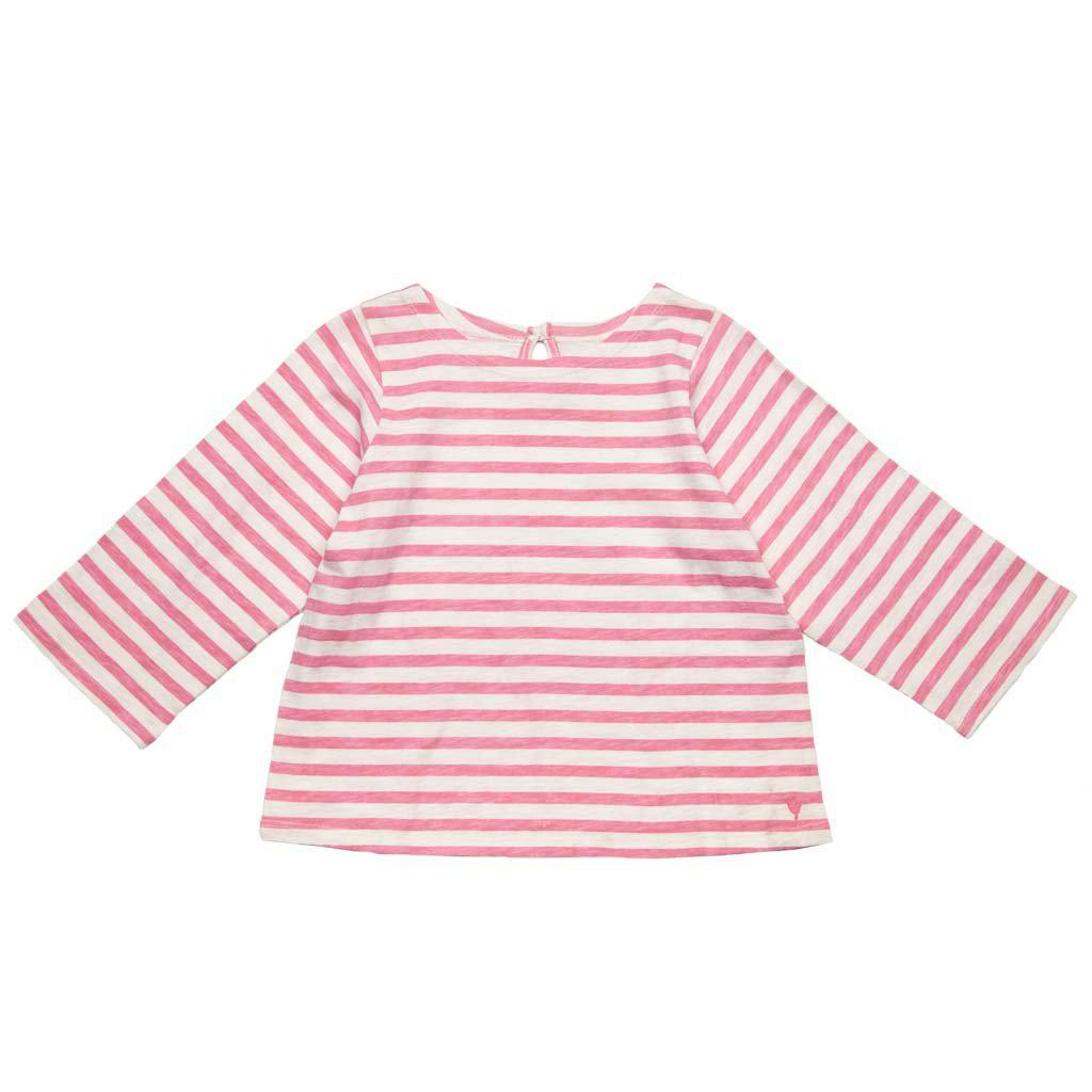 Pink Chicken Sailor Stripe Top 2y conch shell - 17sspc650b