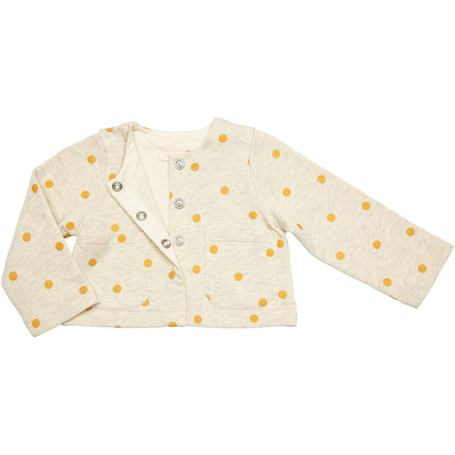 Pink Chicken Salem Snap Cardigan 2y oatmeal heather - 19spc291a