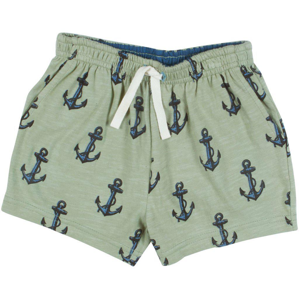 Pink Chicken Sam Short 2y green tea anchor - 19sbr122a