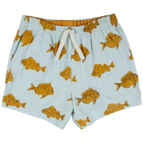 Pink Chicken Sam Short 2y wan blue fish - 19sbr122b