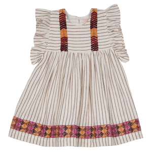 Pink Chicken Sarita Dress 2y mustang stripe