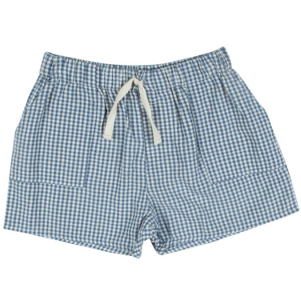 Pink Chicken Sean Short 2y china blue gingham - 19sbr124a